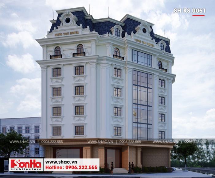 Kiến trúc đơn giản mà đẹp mắt của khách sạn tiêu chuẩn 3 sao tại Vũng Tàu