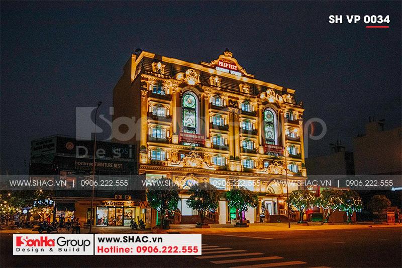 Mẫu thiết kế tòa nhà văn phòng kiến trúc Pháp sang trọng 6 tầng tại Sài Gòn – SH VP 0034 5