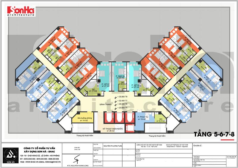 Mẫu thiết kế khách sạn tân cổ điển tiêu chuẩn 4 sao tại Quảng Ninh – SH KS 0050 10