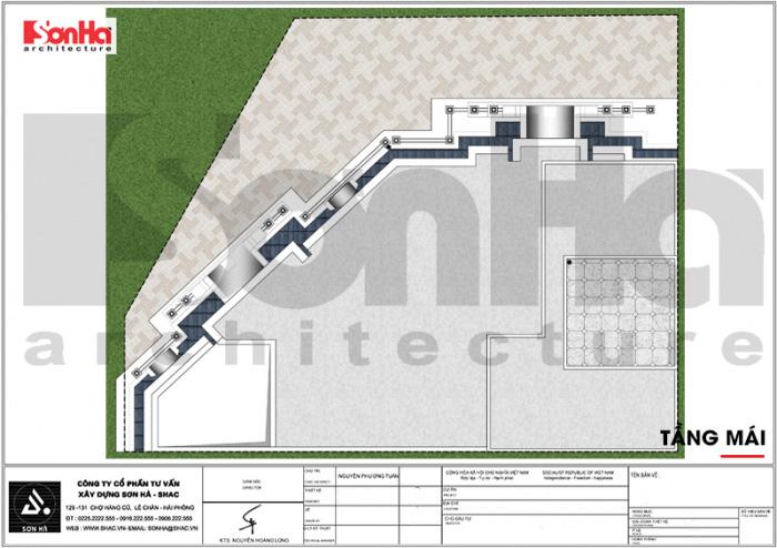 Quy hoạch công năng lầu mái khách sạn tân cổ điển 3 sao tại Vũng Tàu