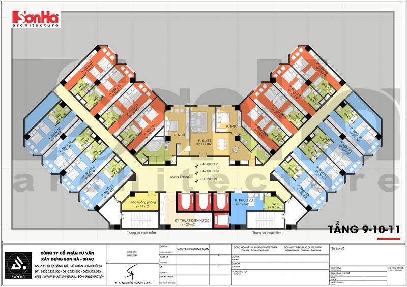Mẫu thiết kế khách sạn tân cổ điển tiêu chuẩn 4 sao tại Quảng Ninh – SH KS 0050 11