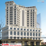 2 Mẫu kiến trúc khách sạn tân cổ điển pháp 4 sao tại quảng ninh sh ks 0050