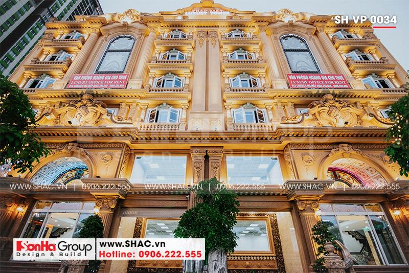 Mẫu thiết kế tòa nhà văn phòng kiến trúc Pháp sang trọng 6 tầng tại Sài Gòn – SH VP 0034 17