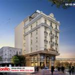 3 Thiết kế kiến trúc khách sạn tân cổ điển đẹp 3 sao tại quảng ninh sh ks 0053
