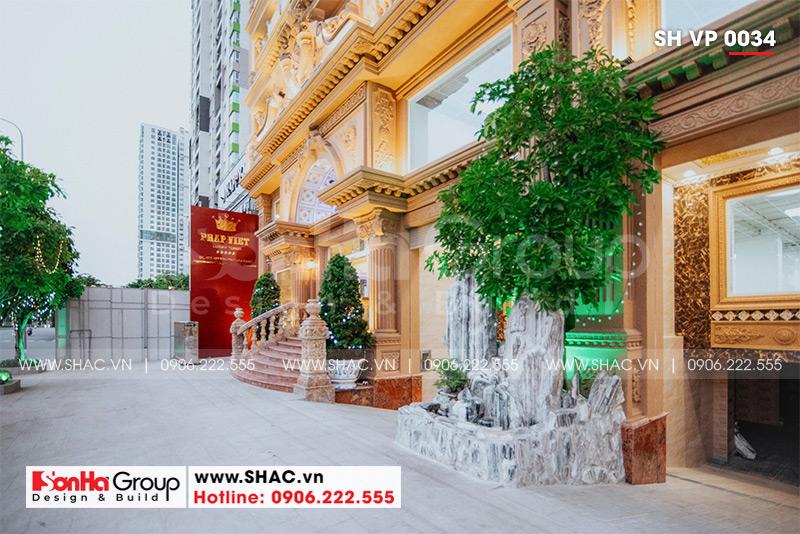 Mẫu thiết kế tòa nhà văn phòng kiến trúc Pháp sang trọng 6 tầng tại Sài Gòn – SH VP 0034 18