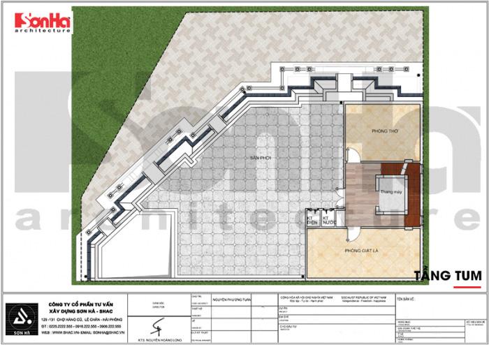 Quy hoạch công năng lầu tum khách sạn tân cổ điển 3 sao tại Vũng Tàu