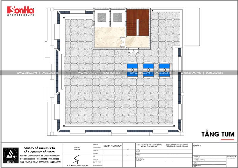 Mẫu thiết kế tòa nhà văn phòng kiến trúc Pháp sang trọng 6 tầng tại Sài Gòn – SH VP 0034 10