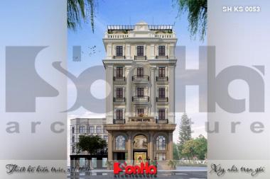 BÌA thiết kế kiến trúc khách sạn 3 sao tân cổ điển tại quảng ninh sh ks 0053