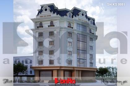 BÌA thiết kế kiến trúc khách sạn tân cổ điển đẹp tại vũng tàu sh ks 0051