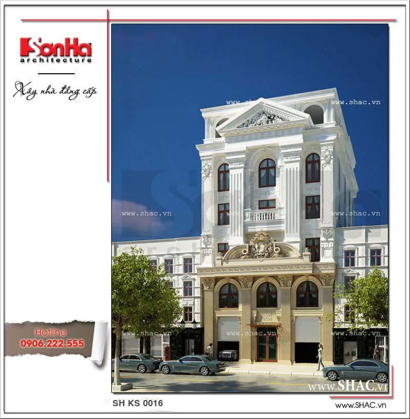 Kiến trúc khách sạn 2 sao cổ điển kiểu pháp dễ dàng tạo thiện cảm bởi tinh tế có duyên