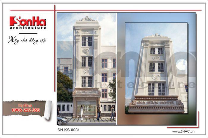 Mẫu thiết kế khách sạn mini 4 tầng phong cách cổ điển Pháp toát lên nét sang trọng tinh tế