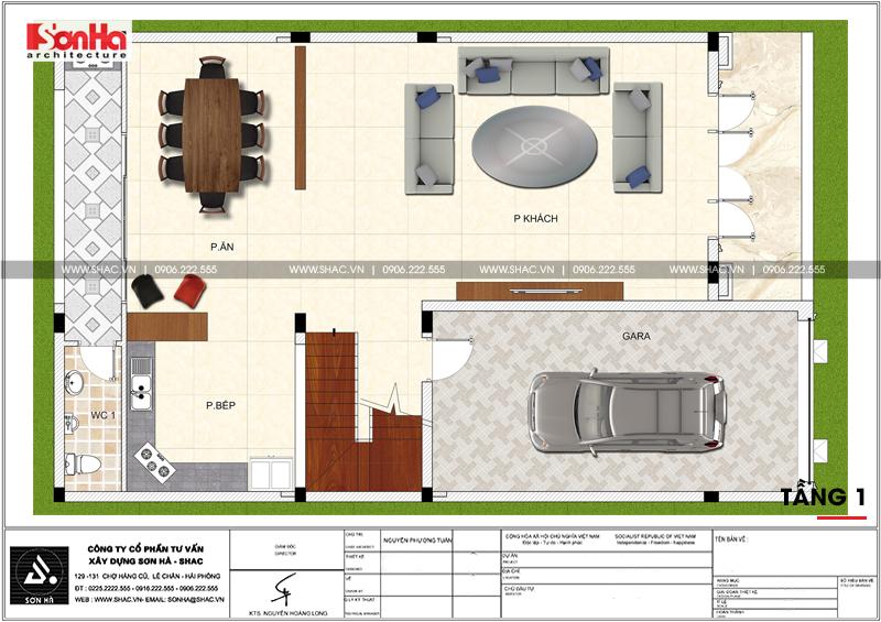 Xem ngay mẫu mặt tiền nhà phố đẹp 3 tầng tân cổ điển diện tích 158,4m2 tại Hải Phòng - SH NOP 0158 4