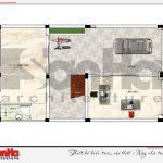 4 Mặt bằng công năng tầng 1 nhà phố hiện đại tại hải phòng sh nod 0182