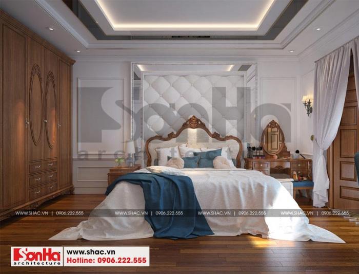 Mẫu thiết kế nội thất phòng ngủ sử dụng đồ nội thất gỗ và sàn gỗ