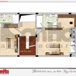 6 Mặt bằng công năng tầng 3 nhà phố hiện đại tại hải phòng sh nod 0182