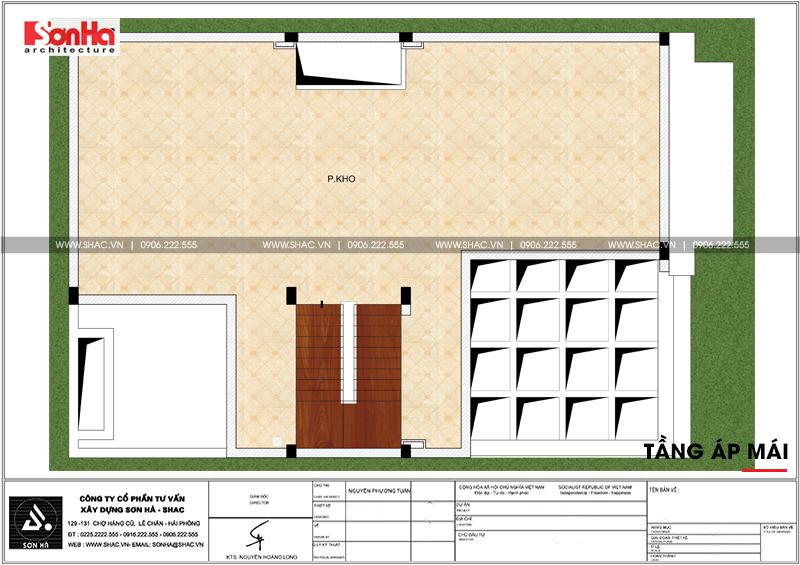 Xem ngay mẫu mặt tiền nhà phố đẹp 3 tầng tân cổ điển diện tích 158,4m2 tại Hải Phòng - SH NOP 0158 7