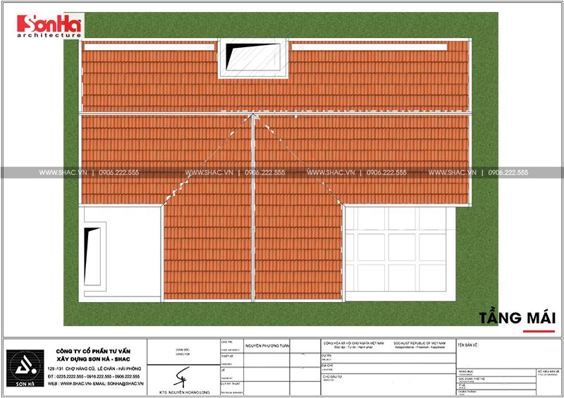 Xem ngay mẫu mặt tiền nhà phố đẹp 3 tầng tân cổ điển diện tích 158,4m2 tại Hải Phòng - SH NOP 0158 8