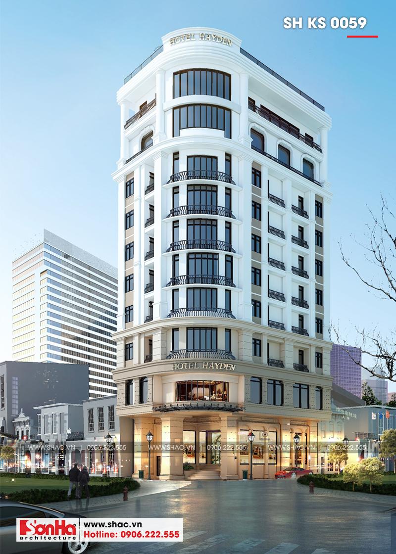 Phương án thiết kế khách sạn 3 sao tân cổ điển kết hợp căn hộ cho thuê tại Đà Nẵng