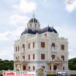 1 Thiết kế kiến trúc biệt thự lâu đài 2 mặt tiền cổ điển tại hải phòng sh btld 0035