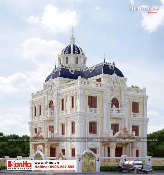 Các đặc điểm của phong cách kiến trúc biệt thự cổ điển đều được thể hiện tinh tế