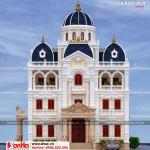 1 Thiết kế kiến trúc mặt tiền biệt thự lâu đài đẹp tại hải dương sh btld 0034