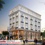 1 Thiết kế kiến trúc mặt tiền khách sạn 3 sao tại hải phòng sh ks 0056