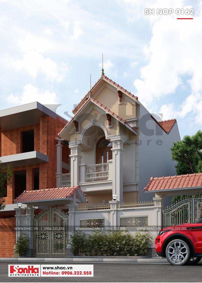 Mẫu nhà phố tân cổ điển kiểu Pháp 3 tầng diện tích 6mx20 tại Ninh Bình - SH NOP 0162 2