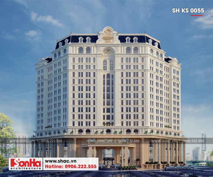 Mẫu khách sạn đẹp tại Quảng Ninh điển hình xu hướng thiết kế khách sạn tân cổ điển