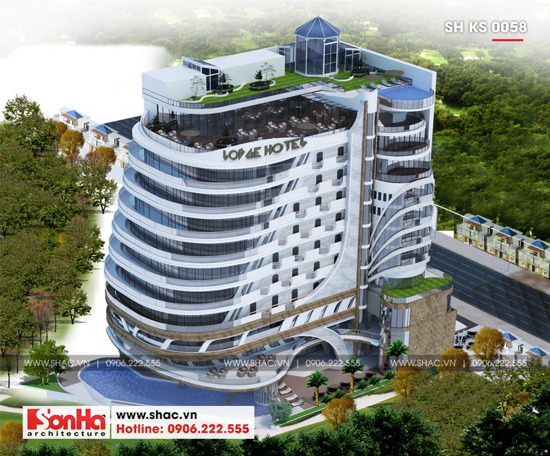 Thiết kế khách sạn hiện đại tiêu chuẩn 5 sao 1078,5m2 tại Phú Quốc - SH KS 0058 1