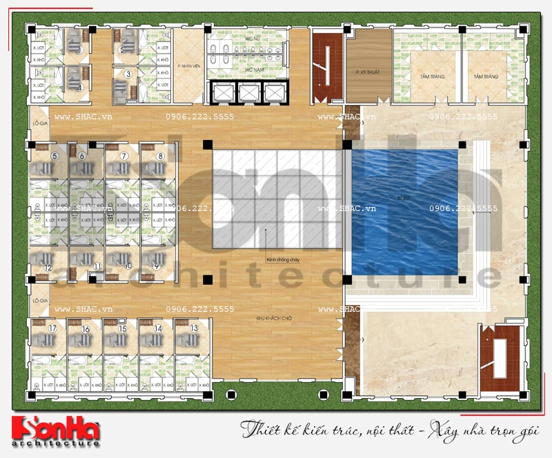 Thiết kế nhà hàng và khu dịch vụ tổng hợp tại Hải Phòng – SH BCK 0048 12