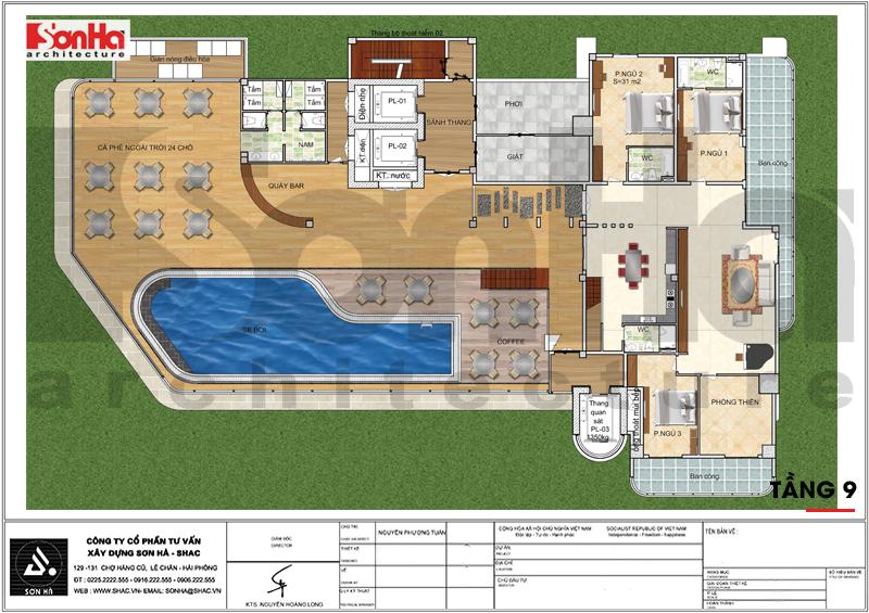 Thiết kế khách sạn hiện đại tiêu chuẩn 5 sao 1078,5m2 tại Phú Quốc - SH KS 0058 11