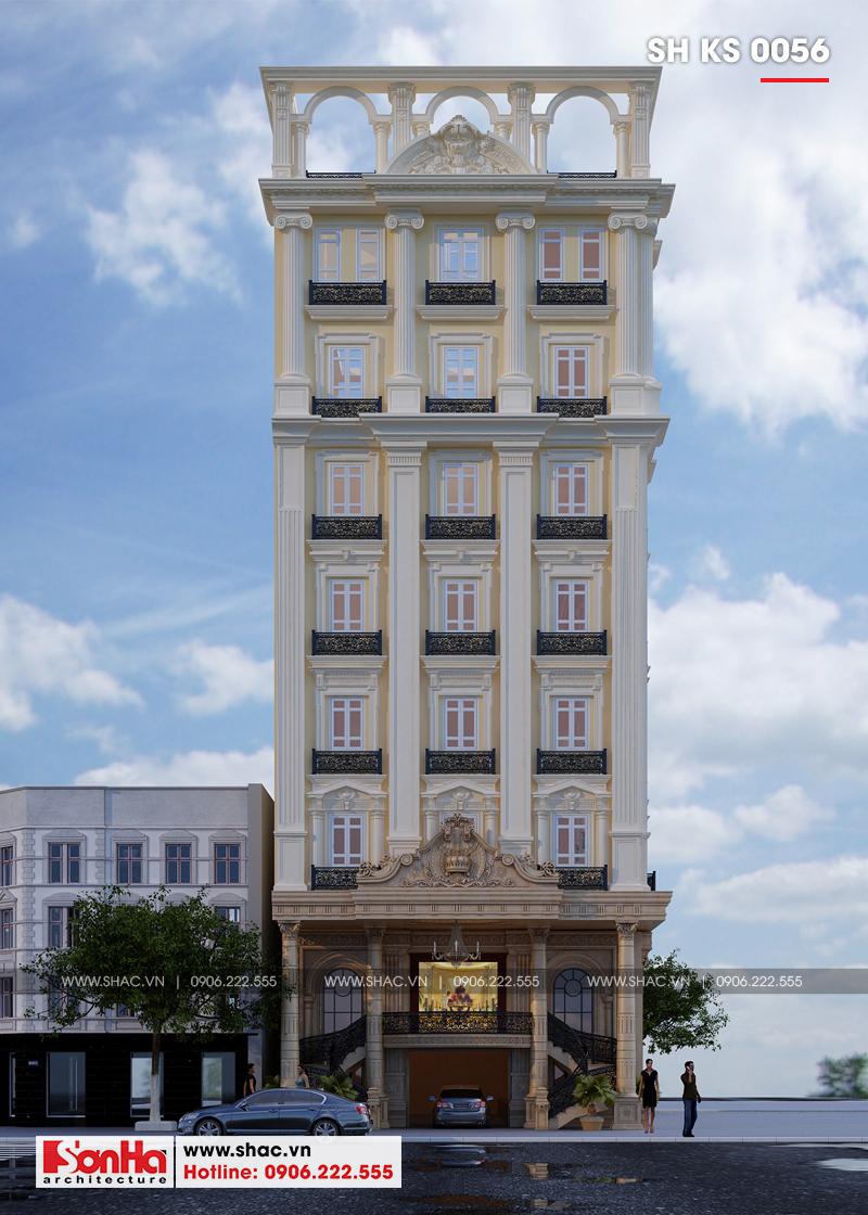 Thiết kế khách sạn 3 sao tân cổ điển tại Hải Phòng - SH KS 0056 6