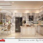 11 Thiết kế nội thất phòng bếp ăn biệt thự tân cổ điển khu đô thị vinhomes imperia hải phòng