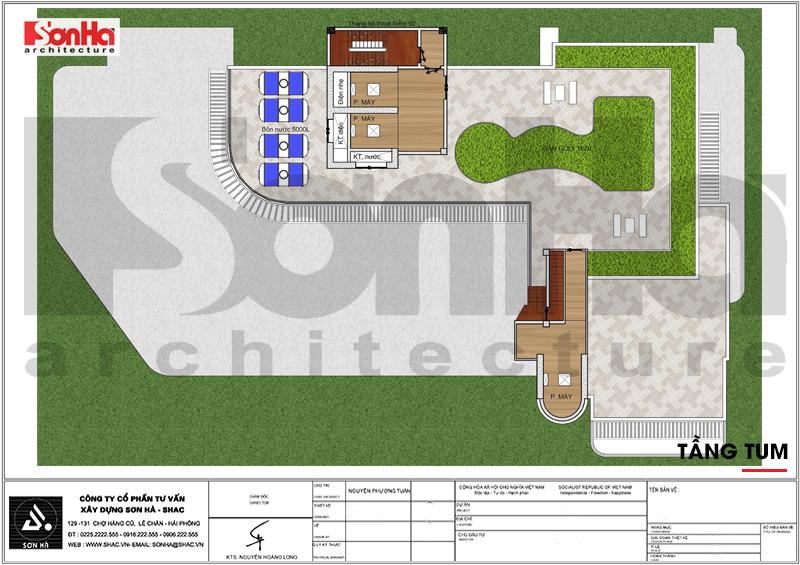 Thiết kế khách sạn hiện đại tiêu chuẩn 5 sao 1078,5m2 tại Phú Quốc - SH KS 0058 12
