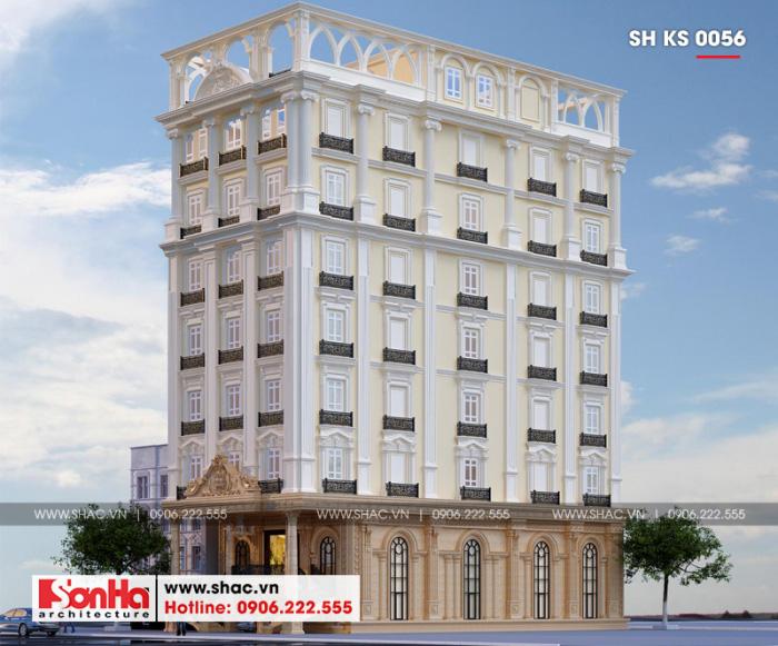 12 Mẫu kiến trúc khách sạn mini tại hải phòng sh ks 0056