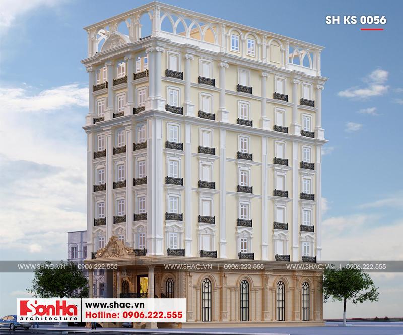 Thiết kế khách sạn 3 sao tân cổ điển tại Hải Phòng - SH KS 0056 3