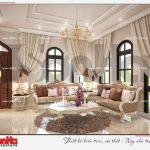 13 Thiết kế nội thất phòng khách biệt thự tân cổ điển khu đô thị vinhomes imperia hải phòng