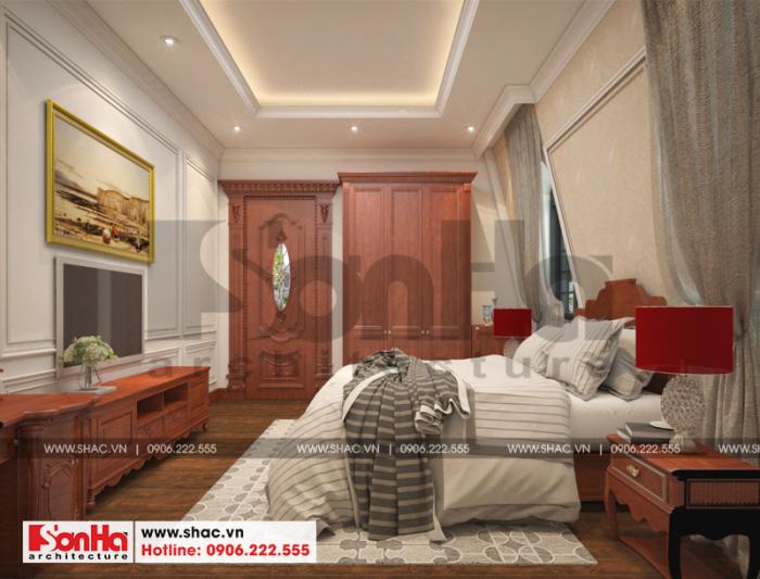 Mẫu thiết kế nội thất phòng ngủ biệt thự phong cách cổ điển Pháp tại Cần Thơ