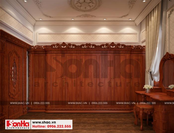 Thiết kế nội thất phòng thay đồ biệt thự cổ điển kiểu pháp 3 tầng tại Cần Thơ
