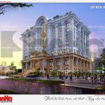 14 Thiết kế kiến trúc phương án 2 nhà hàng tiệc cưới tân cổ điển tại hải phòng sh bck 0048
