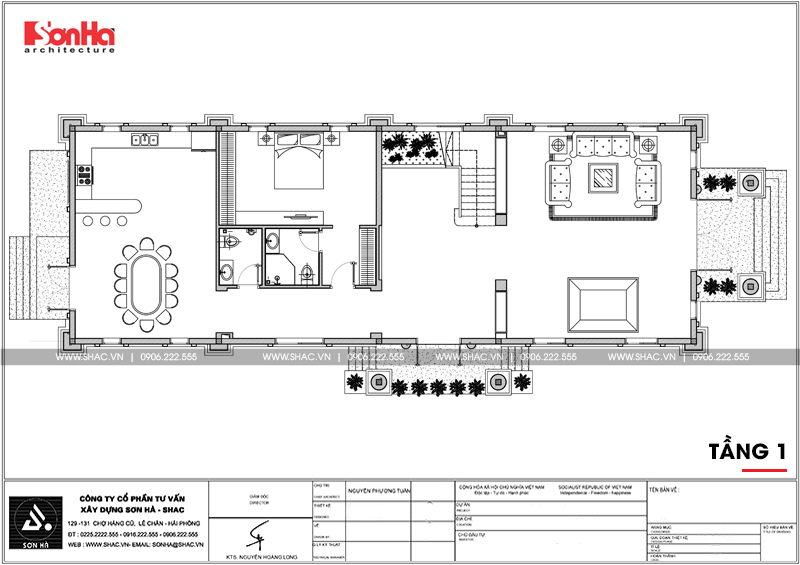 Lộ diện biệt thự cổ điển 3 tầng diện tích 10,3x28,6m tại Cần Thơ – SH BTP 0120 19