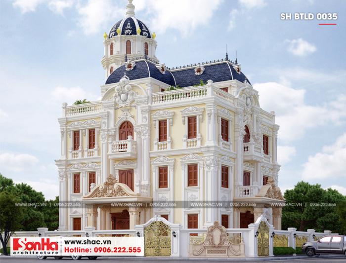 Kiến trúc xa hoa của lâu đài Pháp 2 mặt tiền tại Hải Phòng hạ gục mọi ánh nhìn