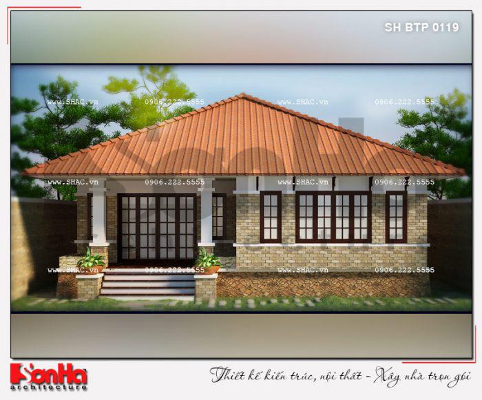 Kiến trúc giản dị của mẫu thiết kế biệt thự mini đẹp phong cách hiện đại 150m2