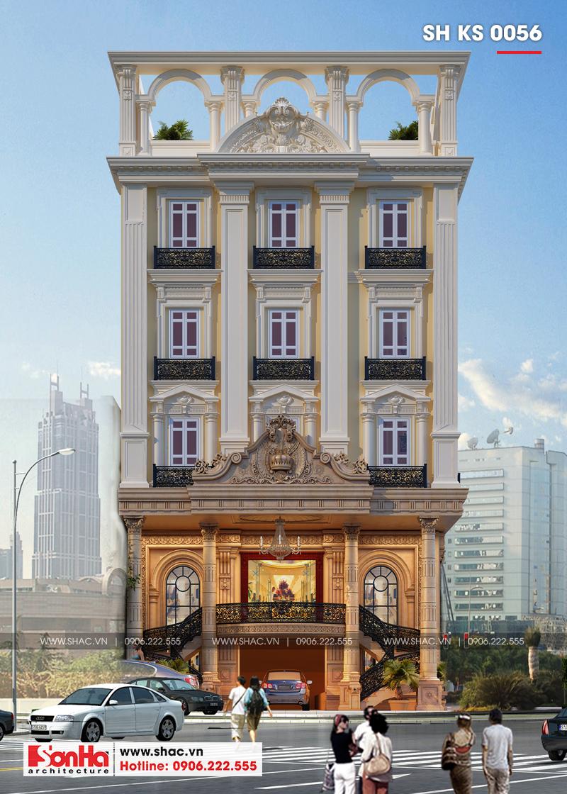 Thiết kế khách sạn 3 sao tân cổ điển tại Hải Phòng - SH KS 0056 2