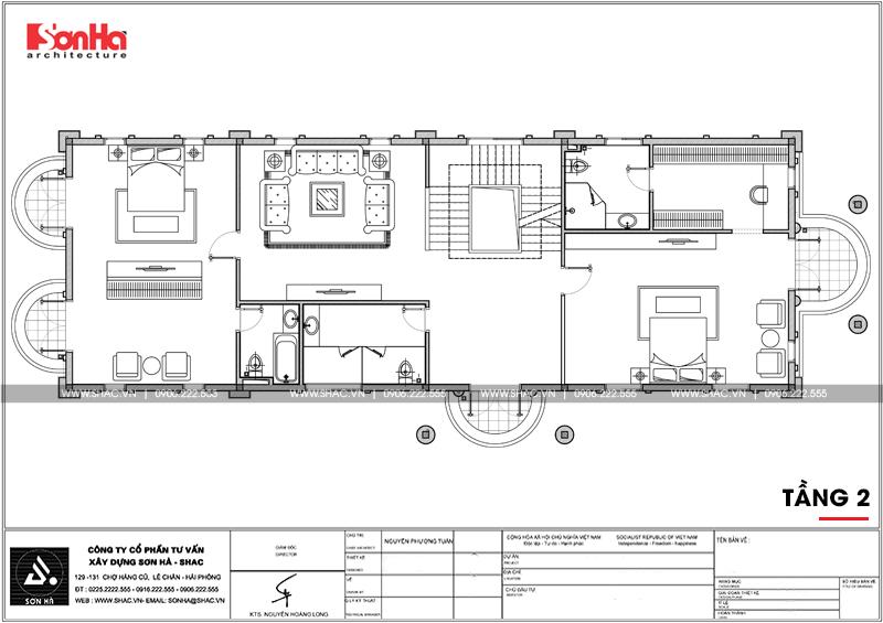 Lộ diện biệt thự cổ điển 3 tầng diện tích 10,3x28,6m tại Cần Thơ – SH BTP 0120 20