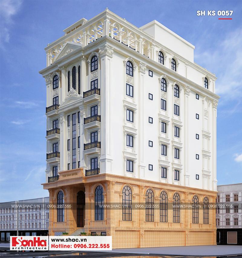 Thiết kế khách sạn tân cổ điển 3 sao 7 tầng 408m2 tại Vĩnh Phúc – SH KS 0057 3