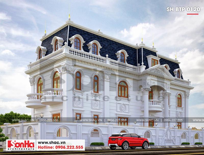 Lộ diện biệt thự cổ điển 3 tầng diện tích 10,3x28,6m tại Cần Thơ – SH BTP 0120 3