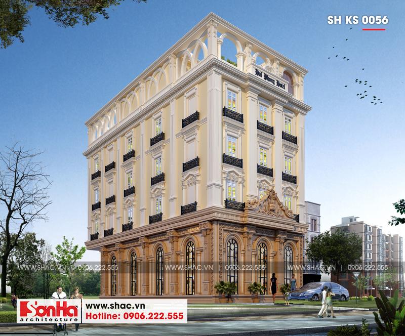 Thiết kế khách sạn 3 sao tân cổ điển tại Hải Phòng - SH KS 0056 4