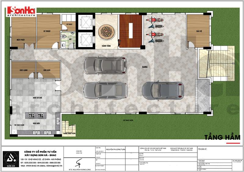 Thiết kế khách sạn tân cổ điển 3 sao 7 tầng 408m2 tại Vĩnh Phúc – SH KS 0057 4