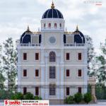 4 Mẫu kiến trúc mặt sau biệt thự lâu đài tại hải dương sh btld 0034